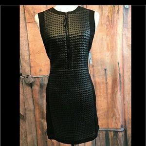 Worthington Faux front 1/2 zip black dress size 6